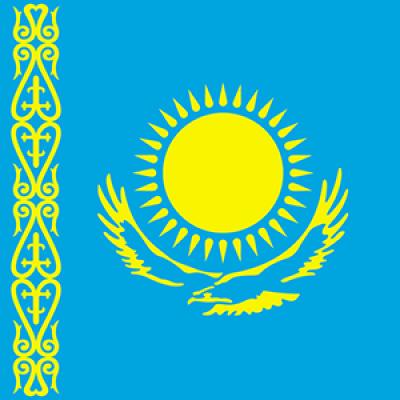 Kazahsztán flag